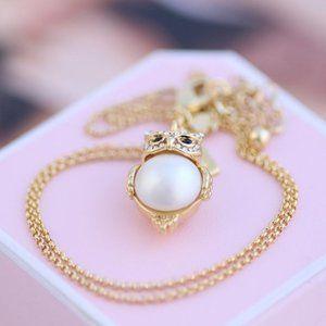 Kate Spade Pink Piggy Necklace